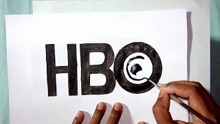 How to draw the HBO tv channel logo