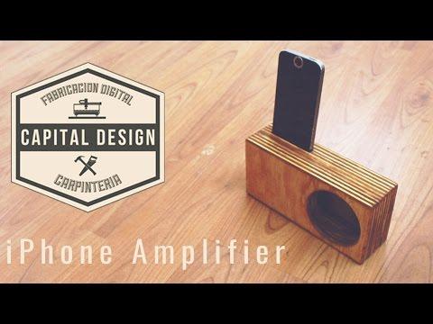 How to make an iPhone amplifier using ShapeOko 2 CNC | DIY Woodworking |
