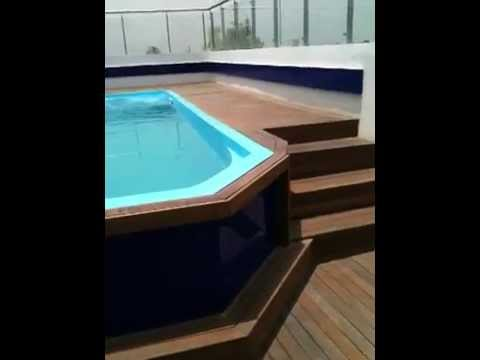 readymade swimming pool roof top youtube