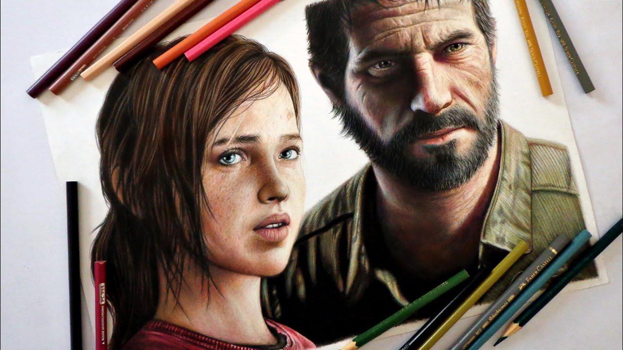 Speed Drawing Ellie And Joel The Last Of Us