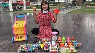Chị Tuyết Bán Hàng – Bộ Đồ Chơi Máy Tính Tiền Siêu Thị ❤ BIBI TV ❤