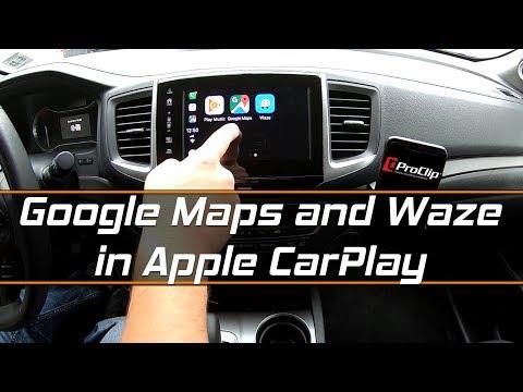 Google Maps and Waze on Apple CarPlay featuring ProCLip