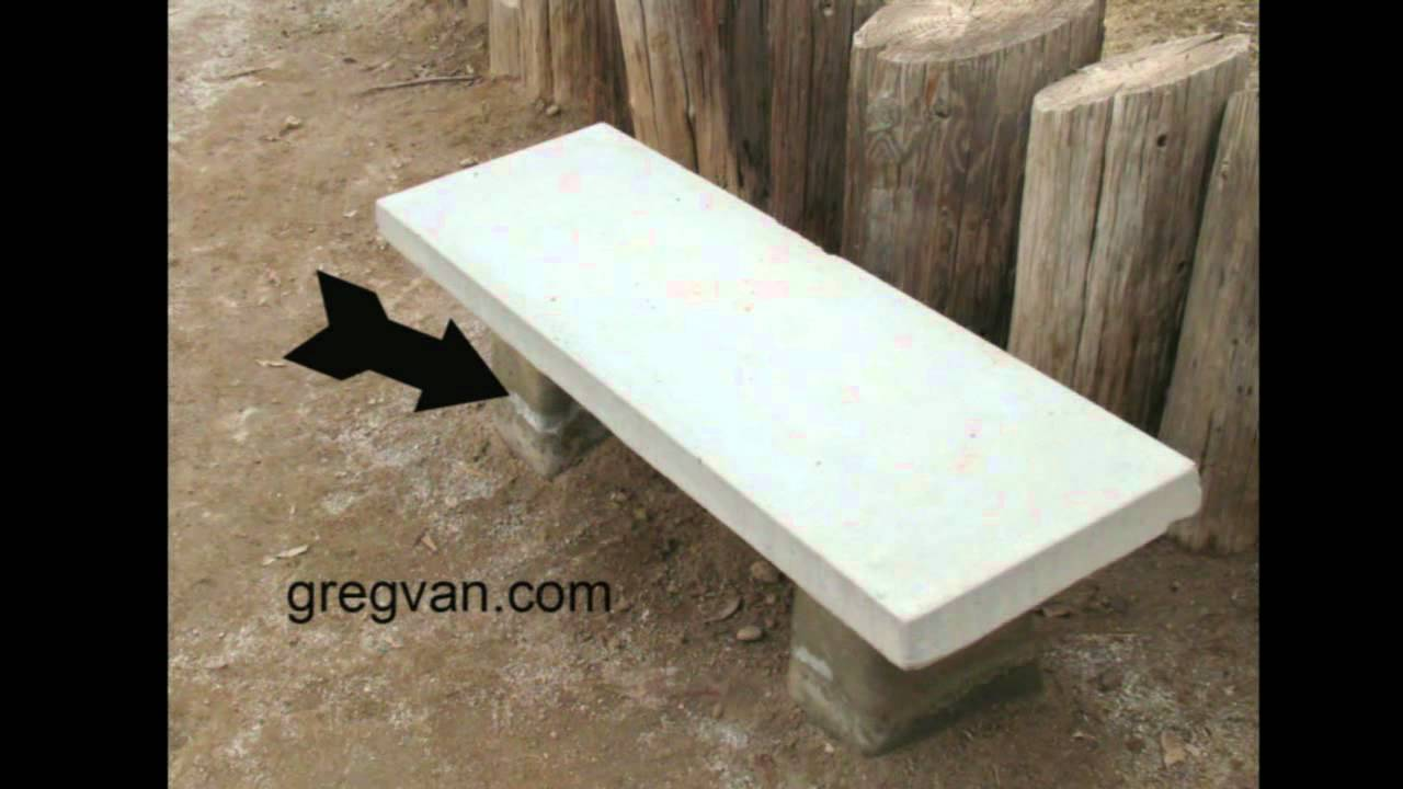 Possible Concrete Bench Damage Landscaping Products