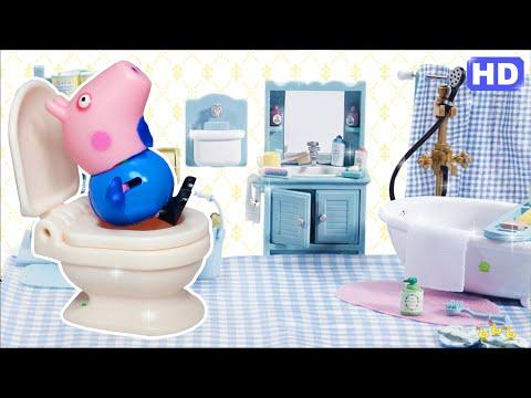Pig George da Família Peppa Pig Come Bolo e Tem Dor de Barriga e Solta Pum! Novelinha Em Portugues