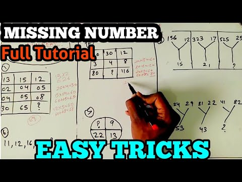 MISSING NUMBERS general aptitude and reasoning 2017 | SSC CHSL | SSC CGL | mppsc | SBI BANK PO EXAMS