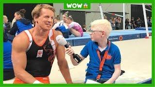 Winnaar verslaggeverswedstrijd Julian interviewt Epke Zonderland