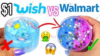 $1 WISH SLIME VS WALMART SLIME! Which Is Worth It?!?