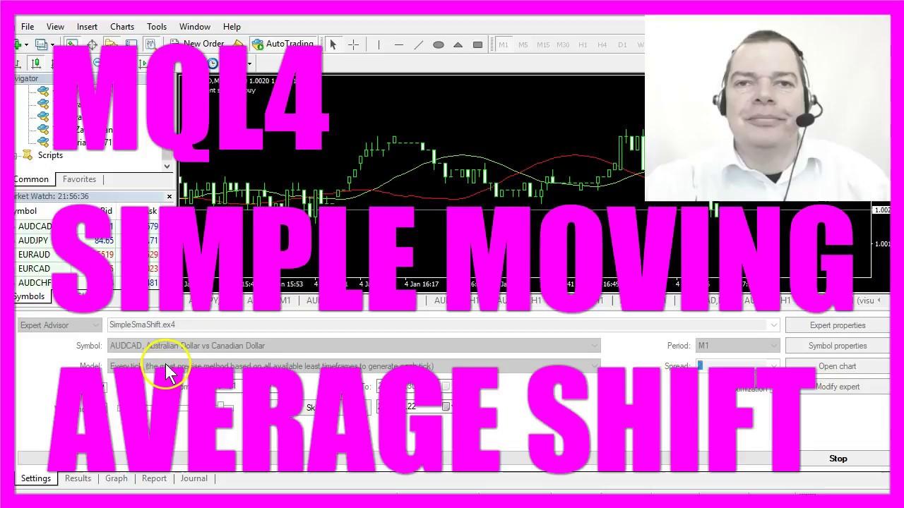Mql4 Tutorial Simple Moving Average Shift Youtube