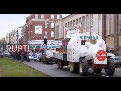 Germany: Thousands protest Siemens and Bombardier layoffs in Gorlitz
