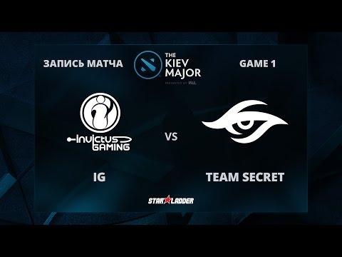 iG vs Team Secret, Game 1, The Kiev Major Group Stage