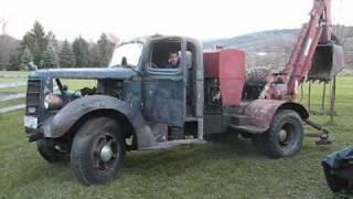 1948 Mack truck with Samson backhoe