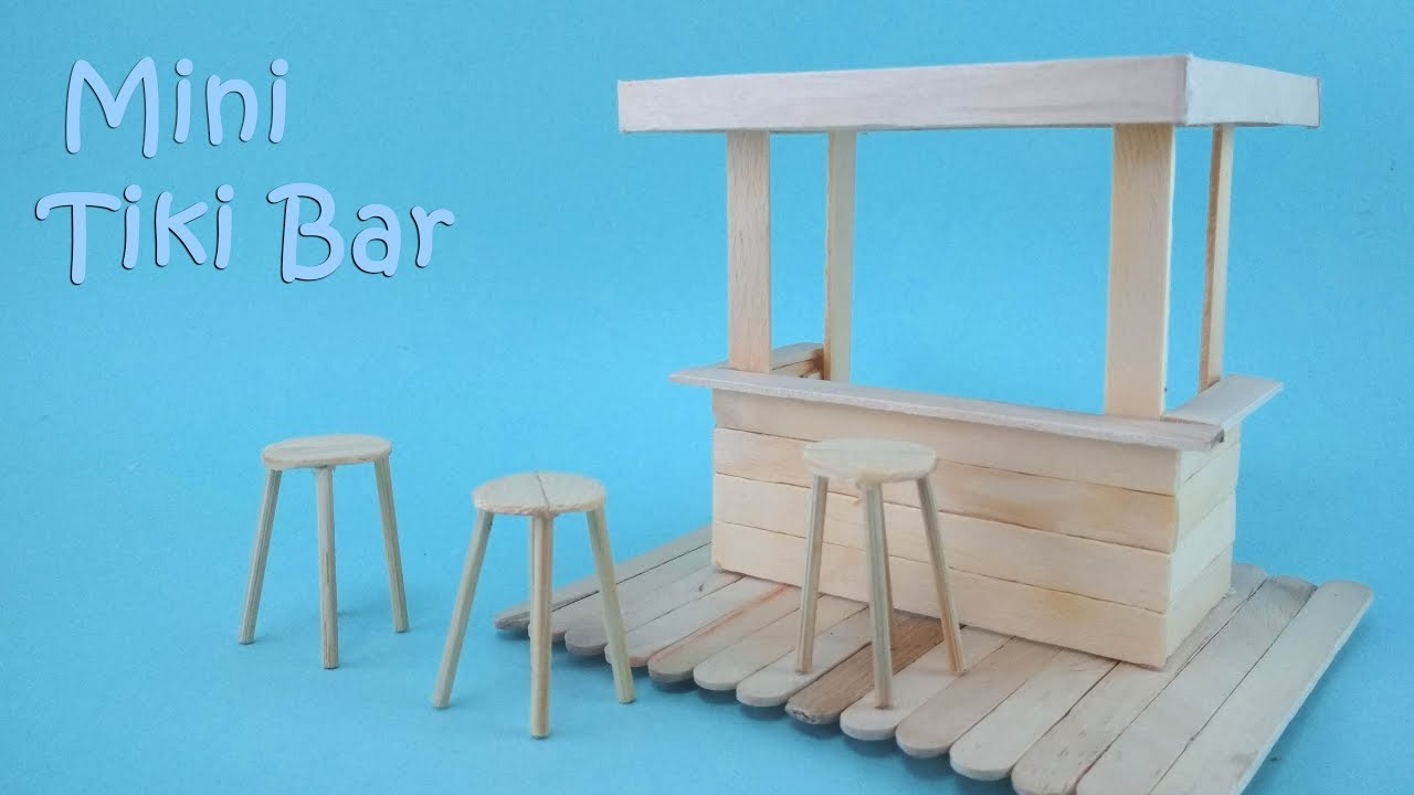 How To Make A Mini Tiki Bar Youtube