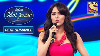 Neeti Mohan Rocks The Stage With Her Fabulous Singing   Indian Idol Junior 2