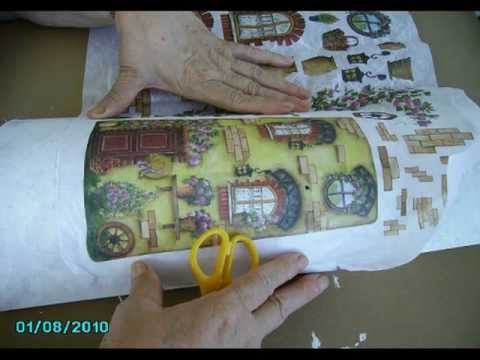 C mo decorar tejas 1 youtube - Decorar tejas en relieve ...