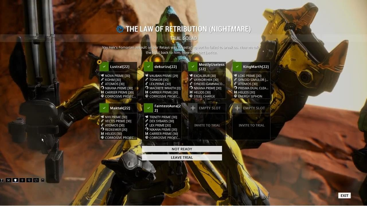warframe law of retribution how to start