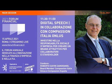 Financial Forum 2021 | Digital Speech | INVESTIRE NELLA RESPONSABILITÀ SOCIALE D'IMPRESA