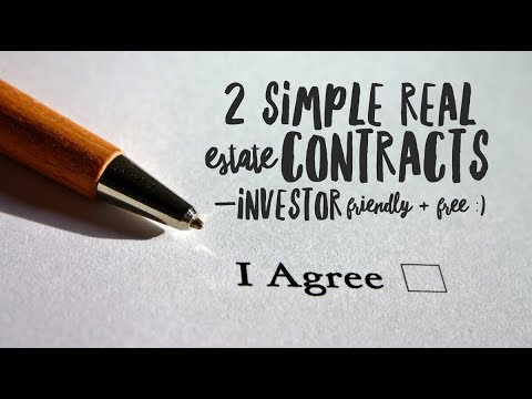 2 Simple Real Estate Contracts (Investor Friendly & Free :) | Awesome REI