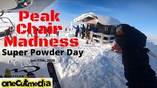 Peak Chair Madness on a Super Powder Day @whistlerblackcomb  Lets go Skiing  onecutmedia