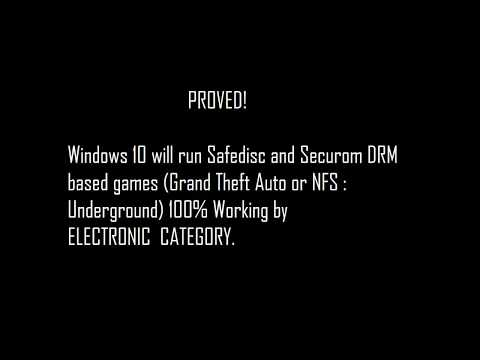 How to runplay Securom or Safedisc games like (GTA, NFS ...