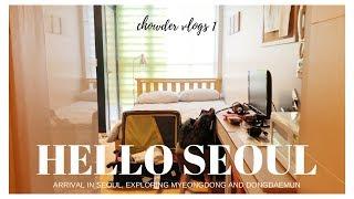 Gambar cover FLIGHT TO SEOUL, Airbnb, Exploring Myeongdong and Dongdaemun // KOREA: VLOG 1
