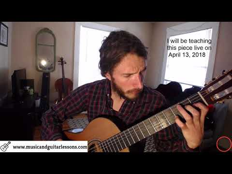 Mauro Giuliani's Op 50 No 6 played by Ross the Music Teacher on Classical Guitar