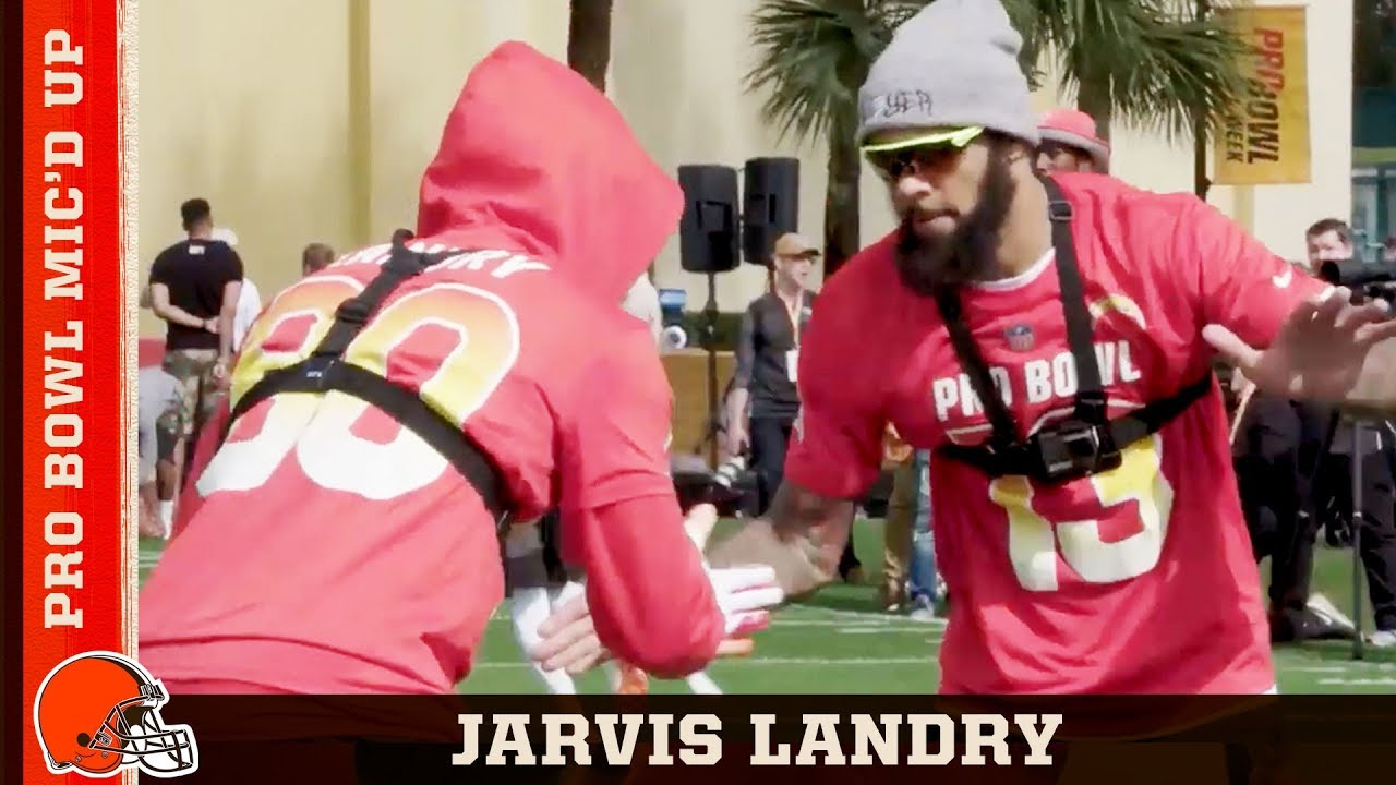 watch 0ffb4 bd567 Jarvis Landry Mic'd Up Singing Meek Mill at 2019 Pro Bowl | Cleveland Browns