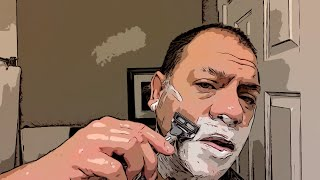 Harry's Chrome Edition 5 Blade Razor Review — average guy tested #APPROVED  (comic book version)