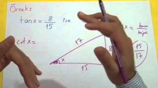 Trigonometri 2 (Dik Üçgende Trigonometrik Oranları) Şenol Hoca Matematik