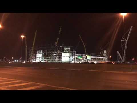 Oakland Raiders Las Vegas Stadium Construction Update 1-8-2019
