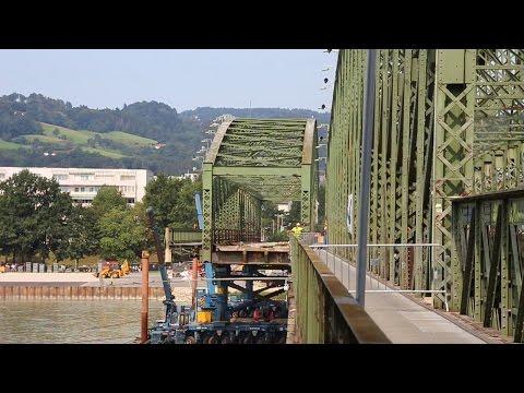 abriss eisenbahnbrücke linz - 2. bogen