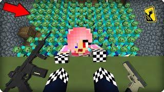 😱Главное не смотреть вниз! [ЧАСТЬ 44] Зомби апокалипсис в майнкрафт! - (Minecraft - Сериал) ШЕДИ МЕН