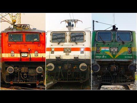 WAP4,WAP7,WAG9 High Speed Compilation of Indian Railways [Full HD]