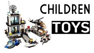 Police Station Building Block Bricks Toys For Children