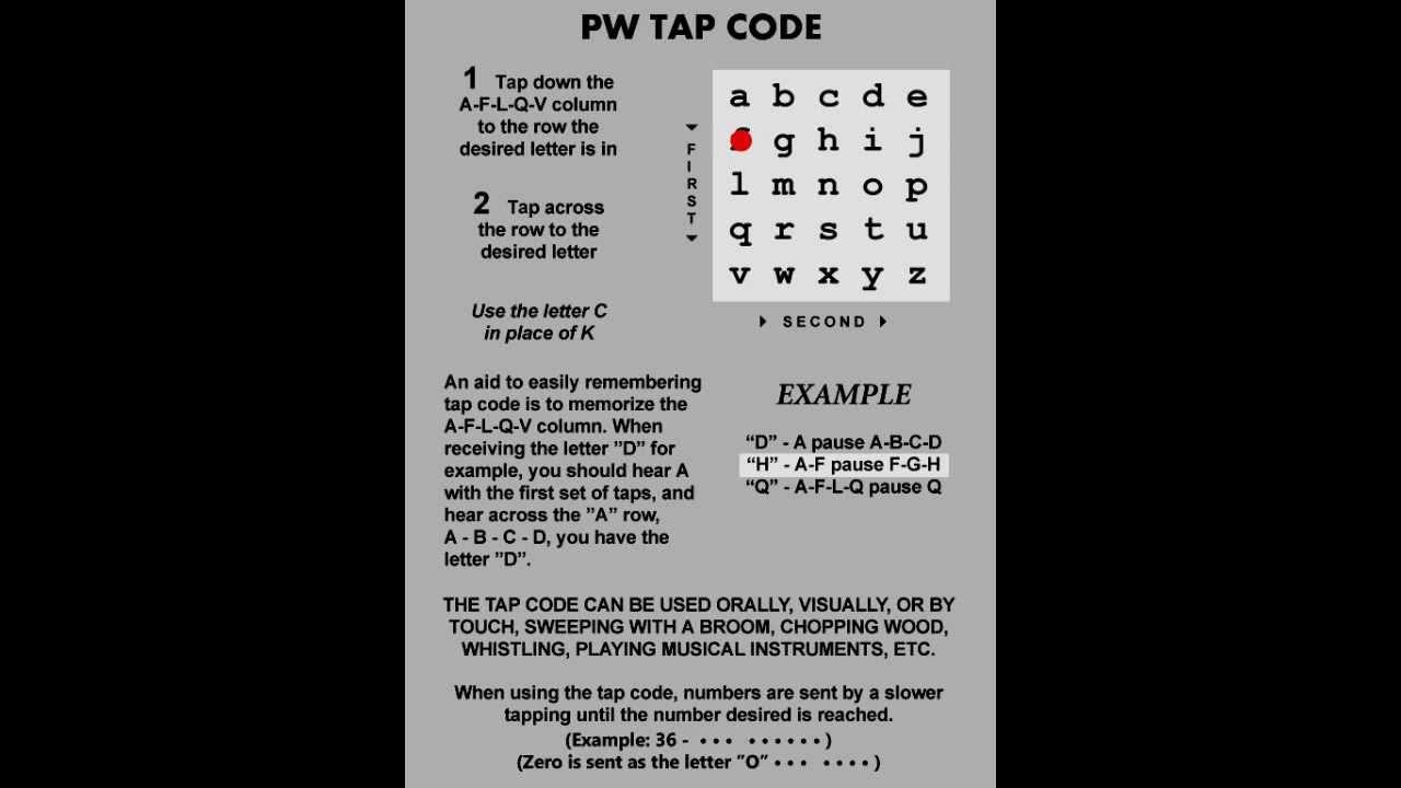00   Tap Code Practice   Intro
