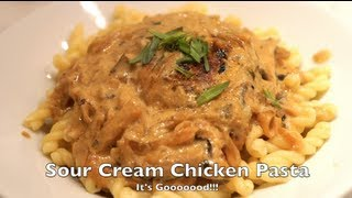 Sour Cream Chicken Pasta- Benjimantv