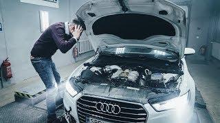 Обычная Audi A6 поехала как RS6, получили 500+ сил