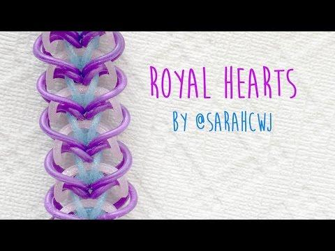 Rainbow Loom Bands Royal Hearts Celet By Sarahcjw
