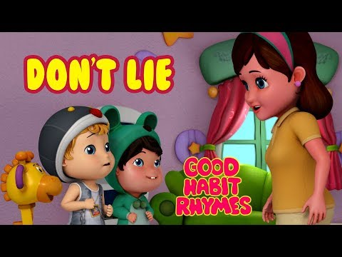 Don't Lie - Always Tell The Truth | Good Habit Songs For Children | Infobells