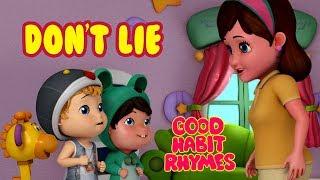Don't Lie - Always Tell the Truth | Good Habit Songs for Children | Infobells