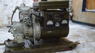 видео военный дизельный генератор