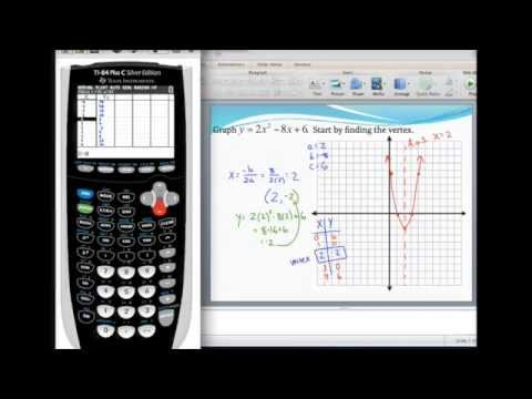 standard form graph calculator Graphing a parabola in standard form and finding the vertex using a  graphing calculator