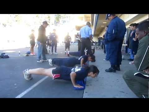 Toughest Cadet Alive 2012 At Wilson High School- Pushups