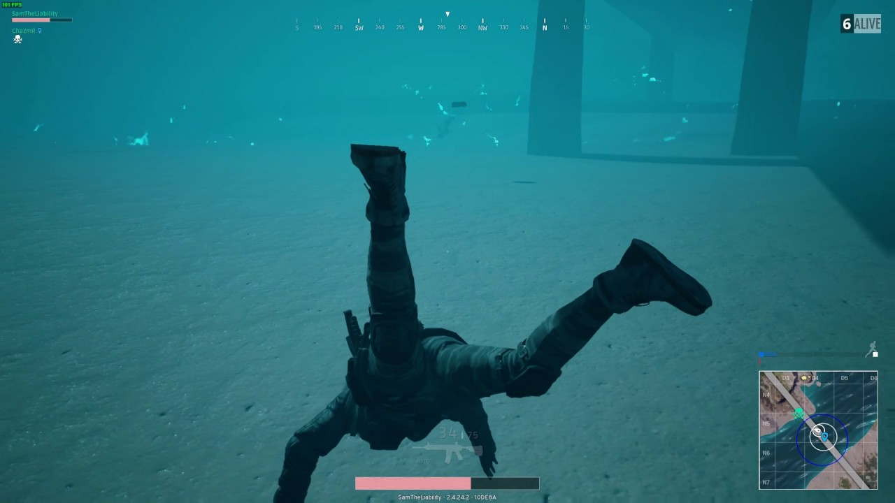 Image result for swimming underwater pubg