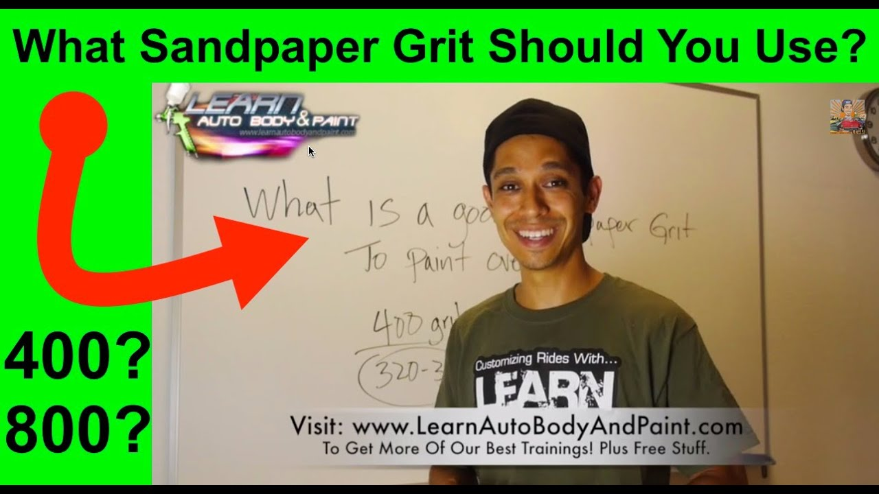 What Grit Sandpaper For Painting A Car