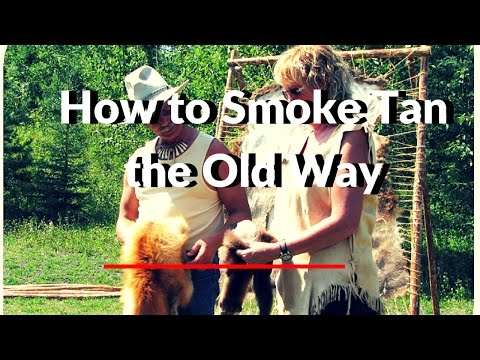 """How To"" Traditional Smoke Tanning Hides the Old Way"