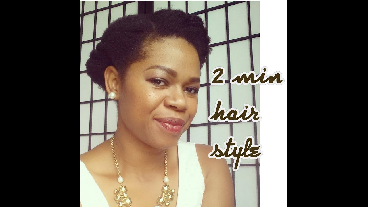 Quick Easy Protective Style short 4c natural hair