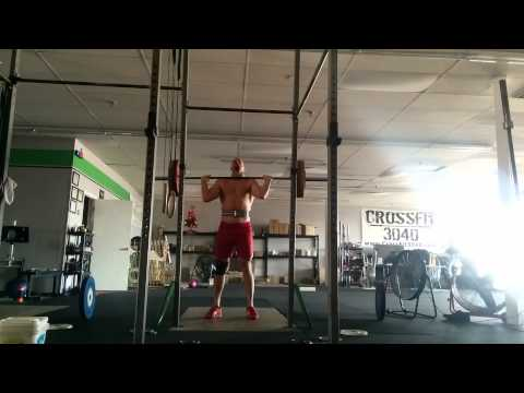 Willie McLendon 105kg 3 push press +1 Jerk