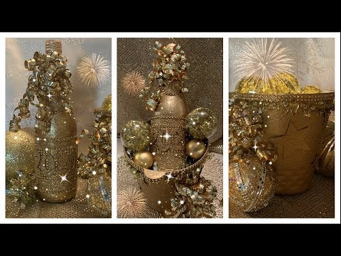 Diy Dollar Tree Glam New Years Centerpiece Part 1