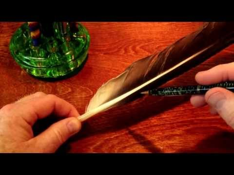 ASMR Making A Quill Pen