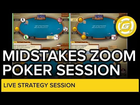 Midstakes Zoom Poker Session At Pokerstars   Live Strategy Session